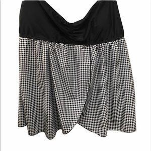 Swimsuit Set Black white checkered 2 piece size 16